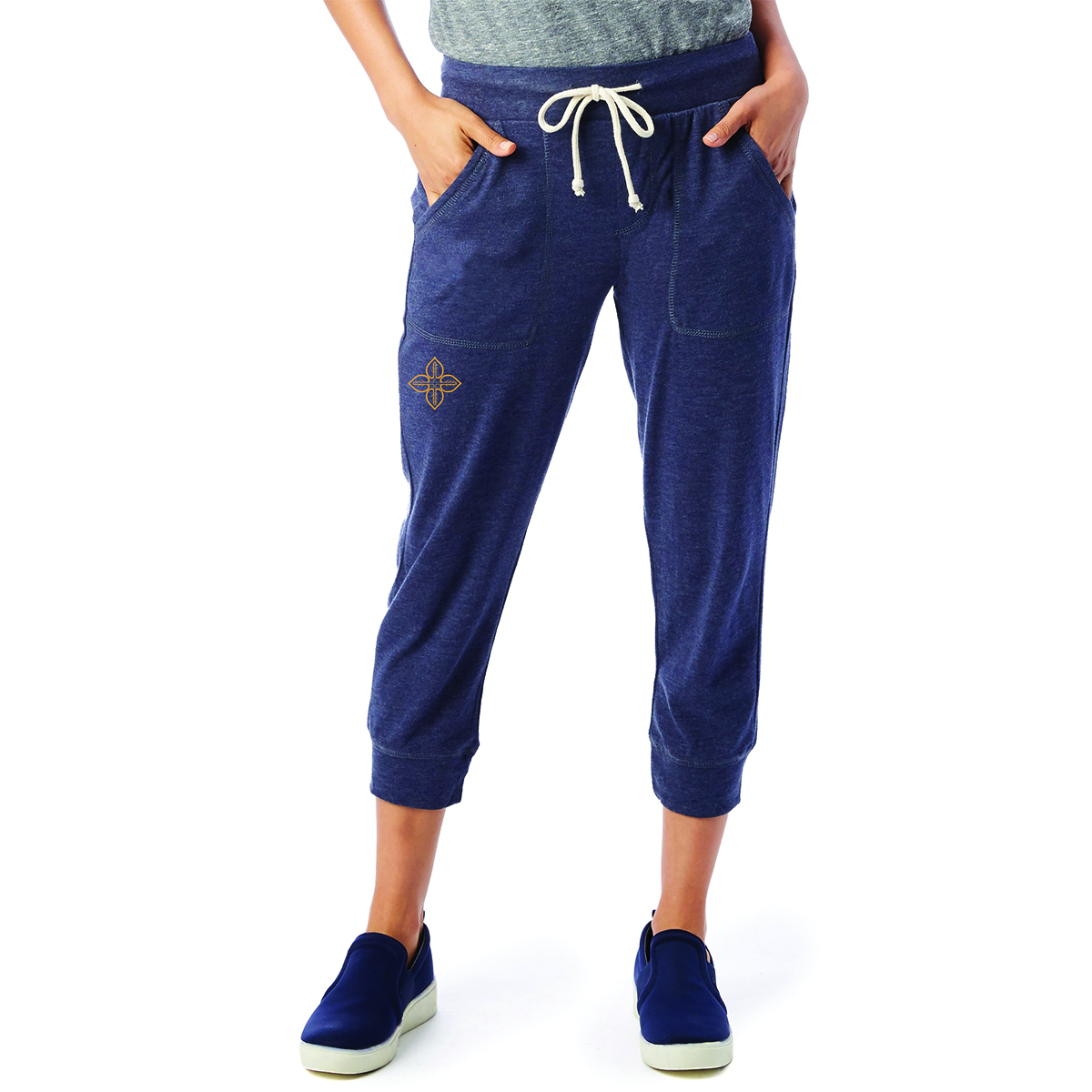 LOVE+EARTH ECO CROPPED LADIES JOGGERS ORGANIC COTTON MIX