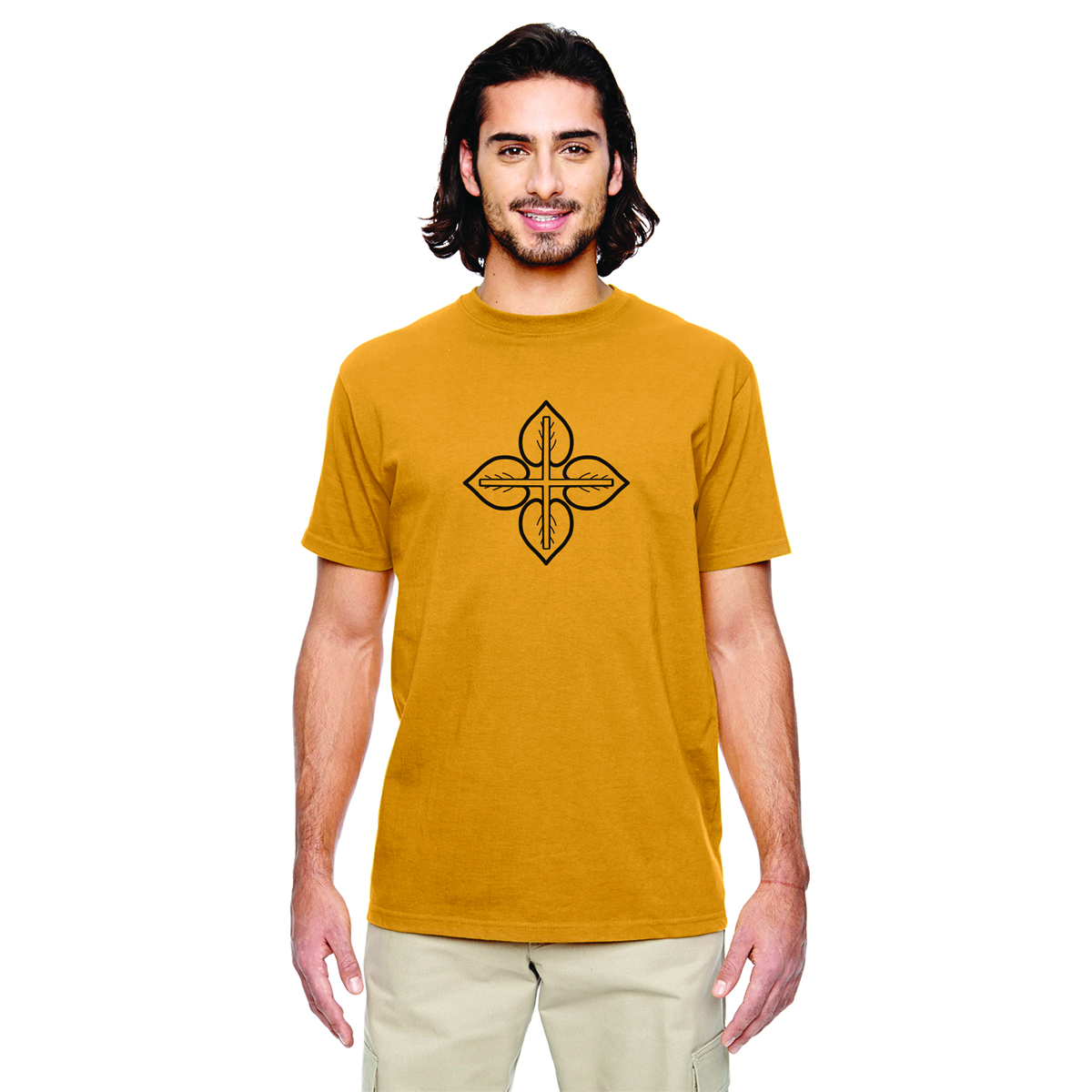 LOVE+EARTH ECO MEN'S SHORT SLEEVE TEE ORGANIC COTTON MIX