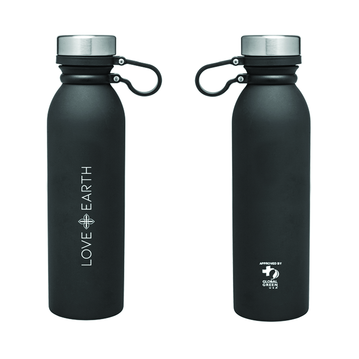 LOVE+EARTH 25oz. SLICK STAINLESS WATER BOTTLE
