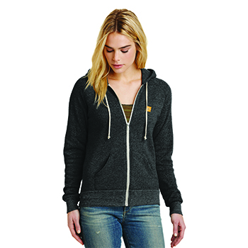 LOVE+EARTH ECO LADIES ZIP HOODIE ORGANIC COTTON MIX