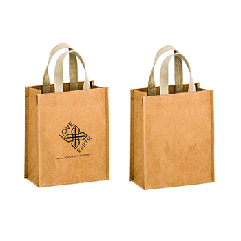 LOVE+EARTH WASHABLE KRAFT PAPER TOTE BAG – FEELS LIKE LEATHER
